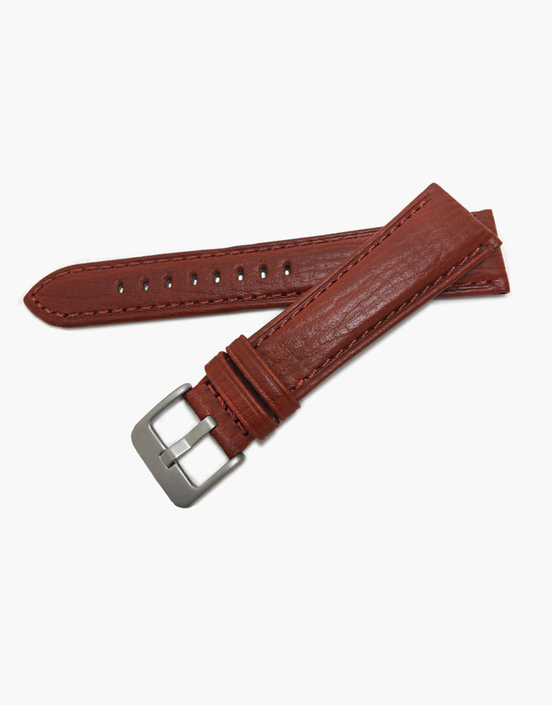 Hadley-Roma MS741 Chestnut Italian Calf Leather Watch Band Buffalo Style