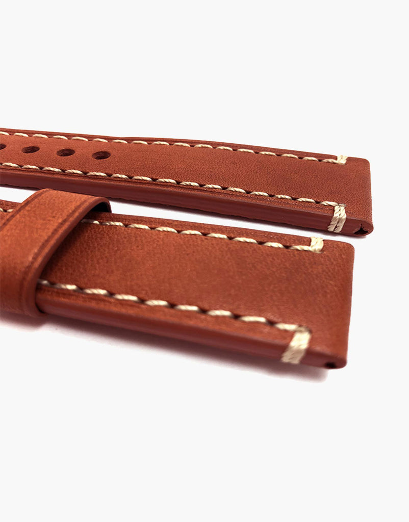 Hadley-Roma MS855 Tan Calf Leather watch Strap Band Vintage style