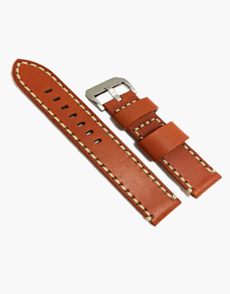 Hadley-Roma Tan Vintage Calf Leather Watch Strap