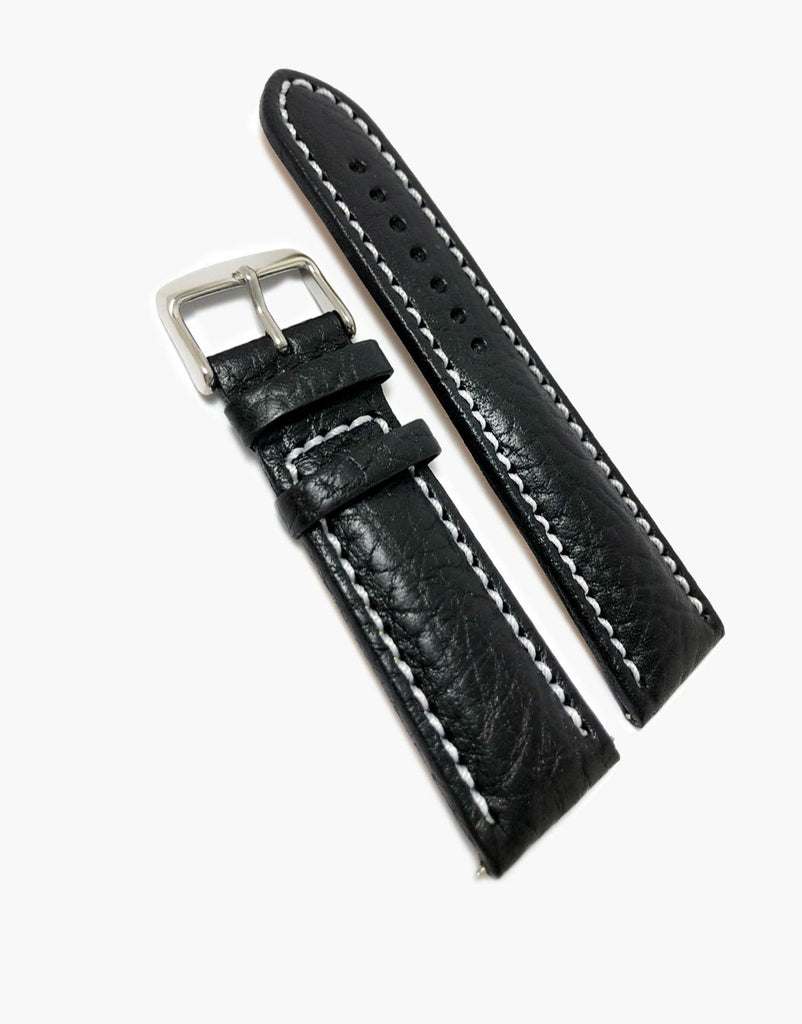 Italian Buffalo Milano Padded Watch Band Black