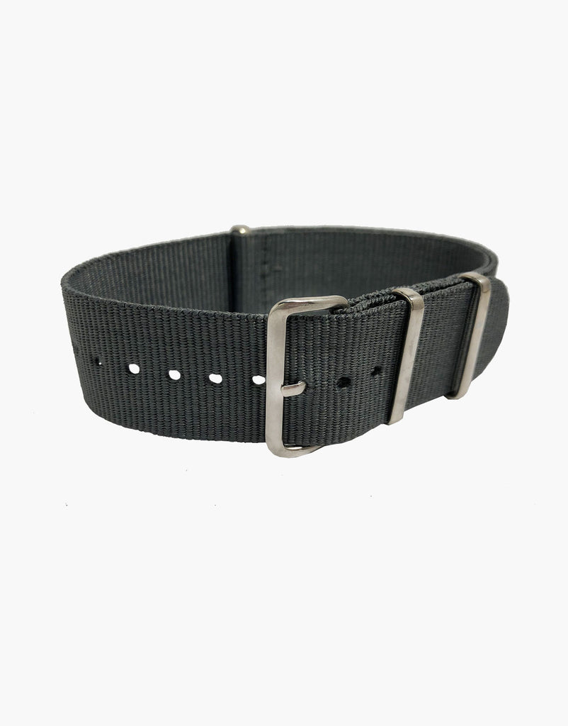 NATO Style Grey Nylon Strap with Stainless Steel by LUX