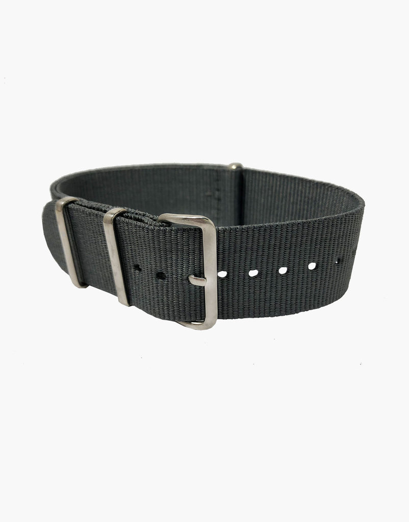 NATO Style Grey Nylon Watch Strap
