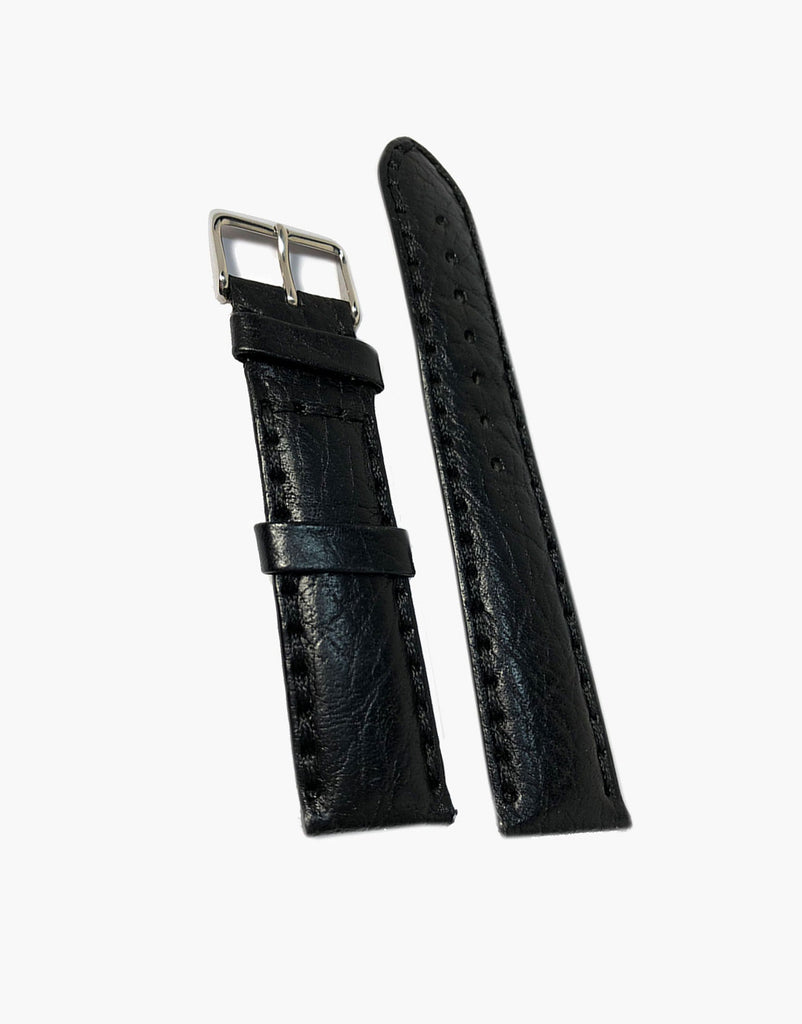 Napoli Buffalo Calf Leather Black Watch Strap