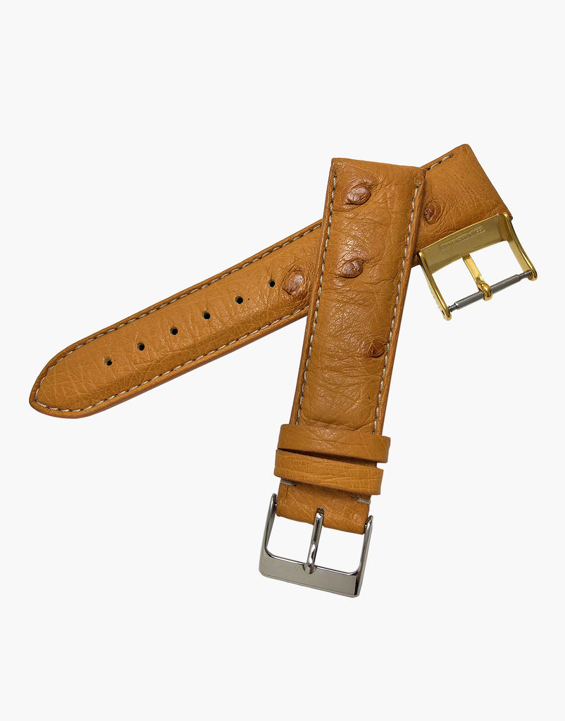 Ostrich Genuine Calf Skin Italian Leather Watch Band strap by LUX