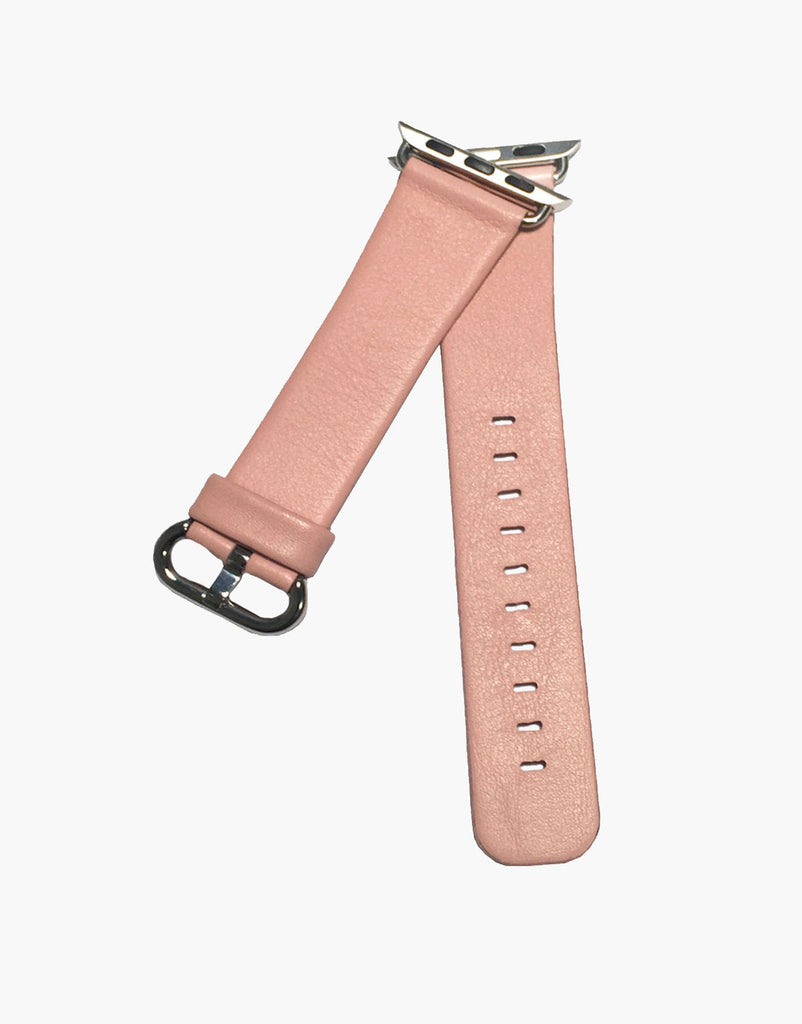 Pink Apple iWatch Style Straps Universal Smooth Calf leather by LUX