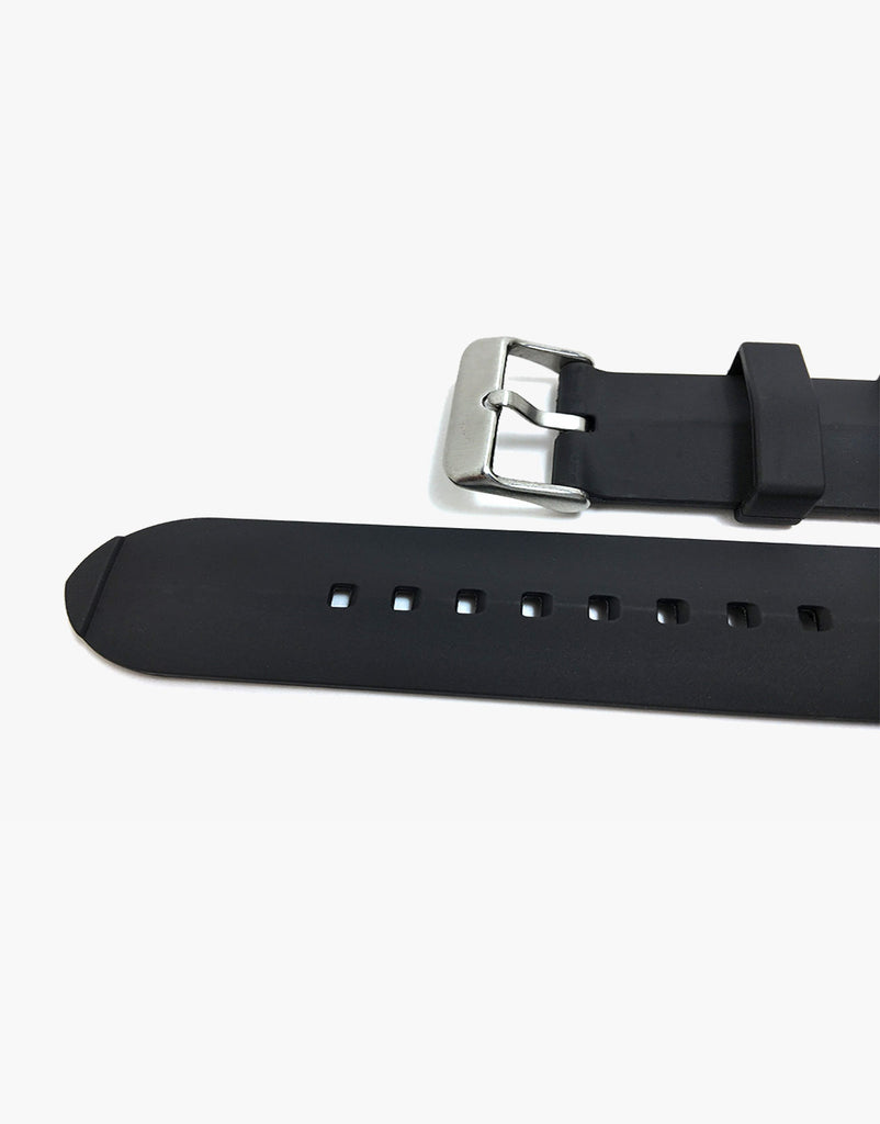 Genuine Rubber Hadley Roma MS3245 Black Dive Watch Band 24mm