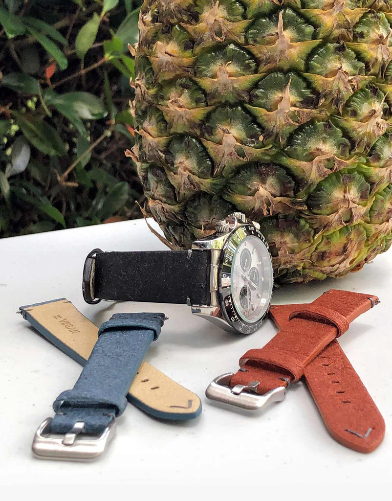 Vegan Leather Pineapple Leaf watch bands strap