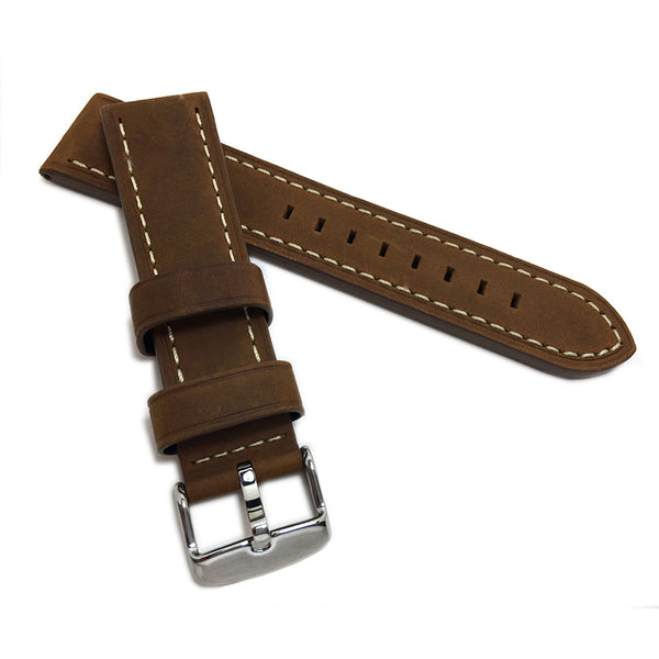 LuxWatchStraps _ Products _ Hadley-Roma MS854 RST Brown Oil Tanned Leather Watch Band-Water Resistant Vintage