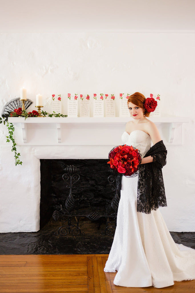 Spanish Rose Inspired Shoot at Bolingbroke Mansion