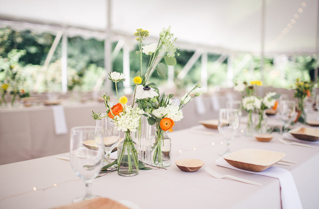Rachel and Matthew - June Wedding at Awbury Arboretum | Table Setting | Tallulah Ketubahs