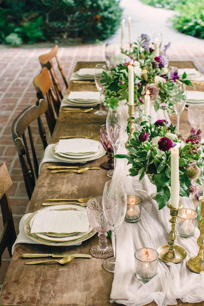 English Garden Party Styled Shoot at Bolingbroke Mansion | Tablescape and Place Settings | Tallulah Ketubahs