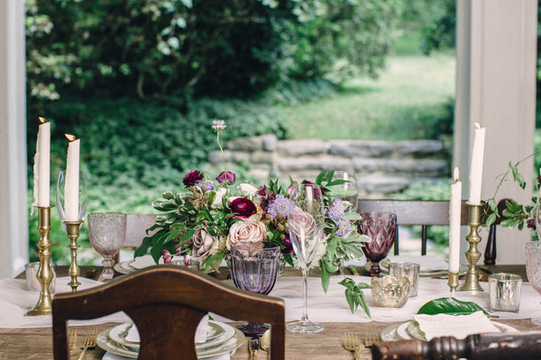 English Garden Party Styled Shoot at Bolingbroke Mansion | Tablescape and Place Setting | Tallulah Ketubahs