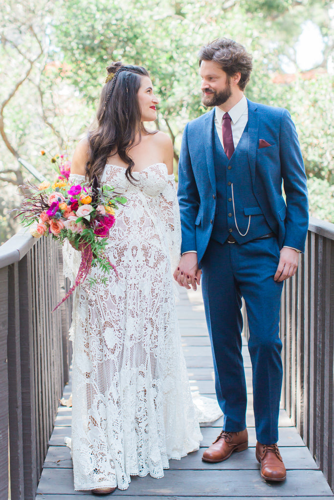 Courtney & Sam - Beautiful Boho Wedding in Santa Barbara | Tallulah Ketubahs