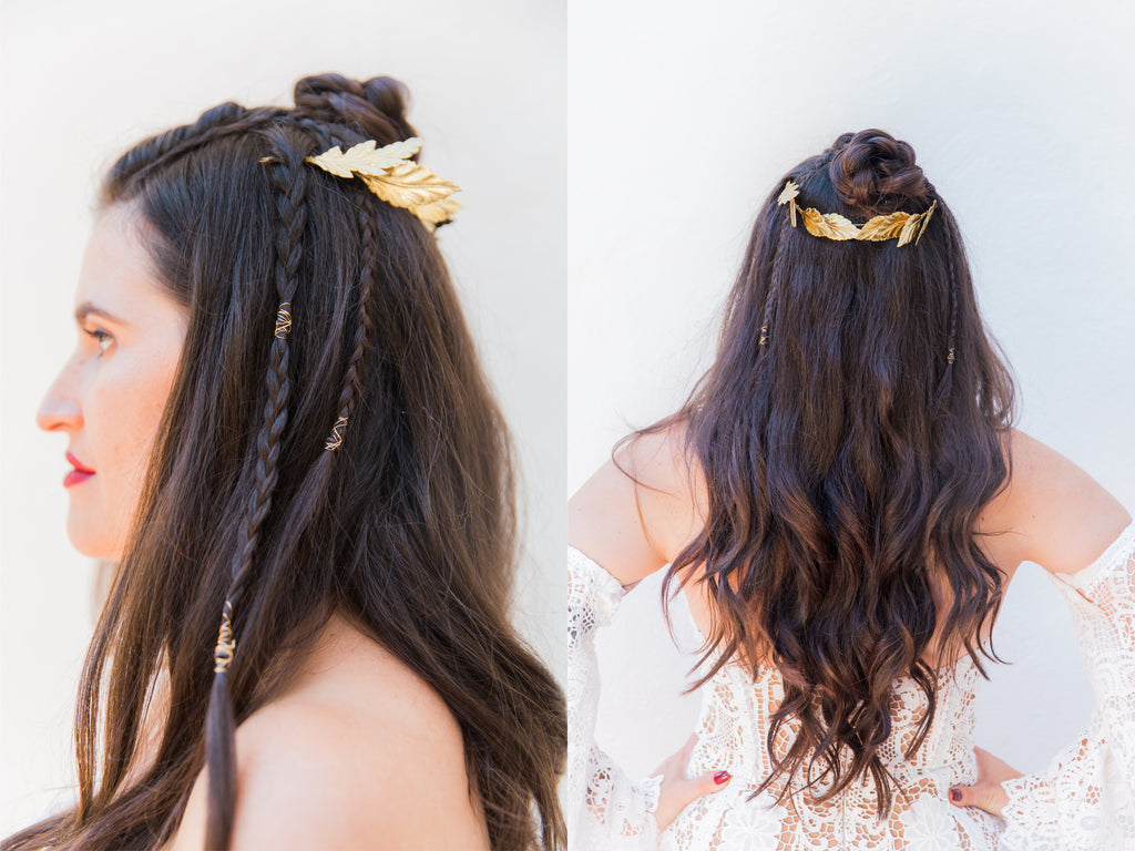 Courtney & Sam Beautiful Boho Wedding in Santa Barbara | Bridal Hair Style | Tallulah Ketubahs