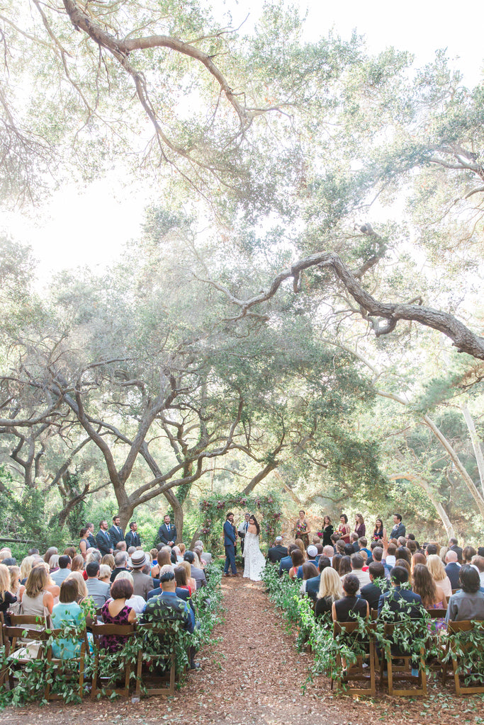 Courtney & Sam Beautiful Boho Wedding in Santa Barbara | Forest Wedding Ceremony | Tallulah Ketubahs