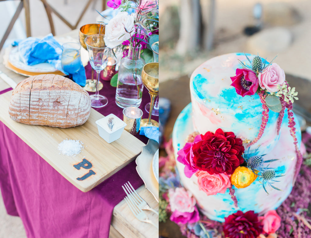 Courtney & Sam Beautiful Boho Wedding in Santa Barbara | Colorful Boho Wedding Decor | Tallulah Ketubahs