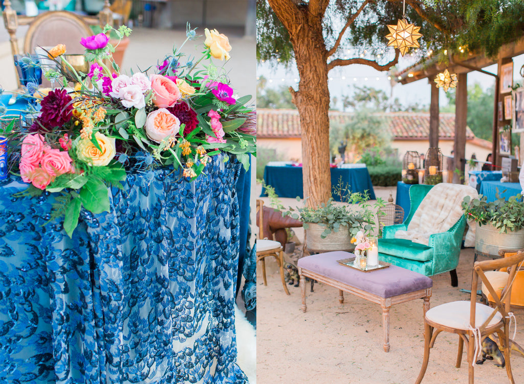 Courtney & Sam Beautiful Boho Wedding in Santa Barbara | Boho Wedding Decor | Tallulah Ketubahs