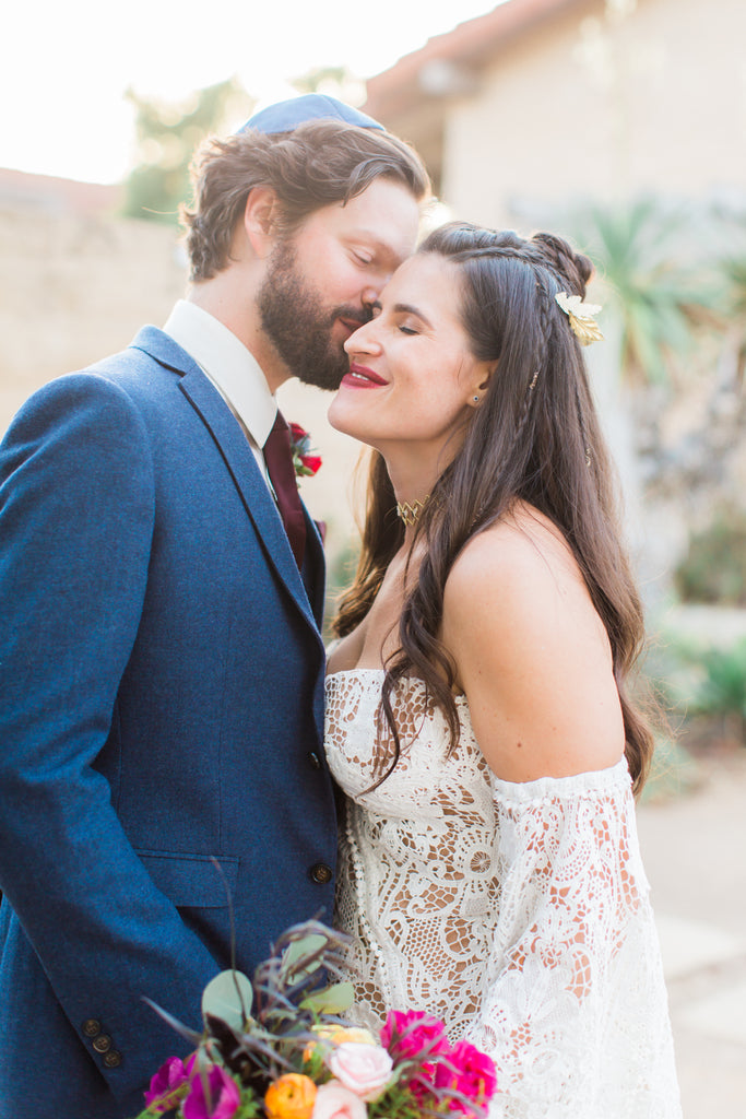Courtney & Sam Beautiful Boho Wedding in Santa Barbara | Tallulah Ketubahs