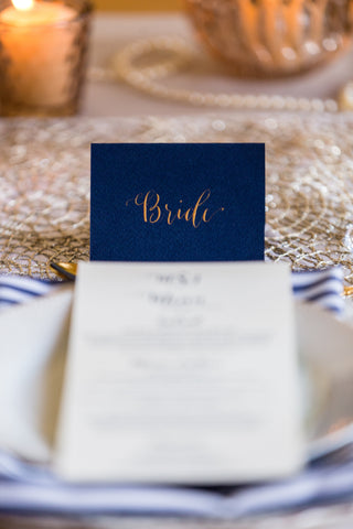 Blue table card