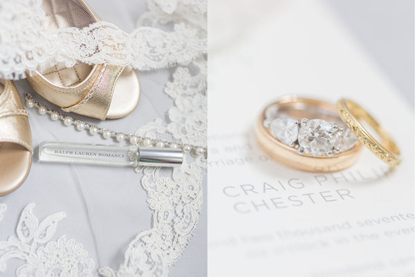 Amy & Craig's Wedding at Woodend Sanctuary | Bride's Shoes, Jewelry, and Rings | Tallulah Ketubahs