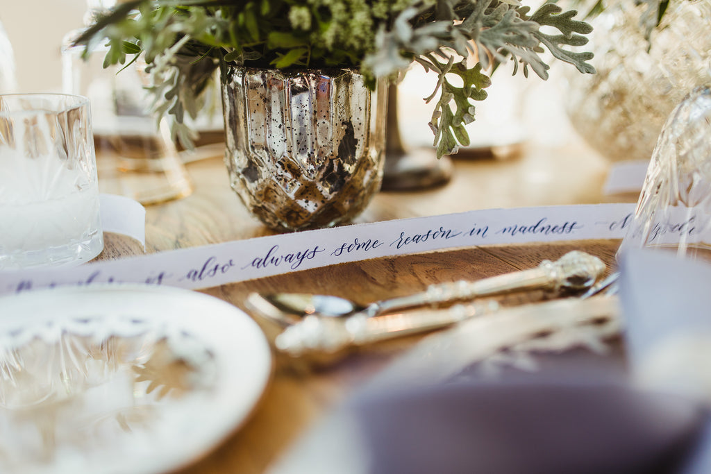 Celine & Jad - Luxury Bespoke Destination Wedding in Spetses Island, Greece | Romantic Tablescape | Tallulah Ketubahs