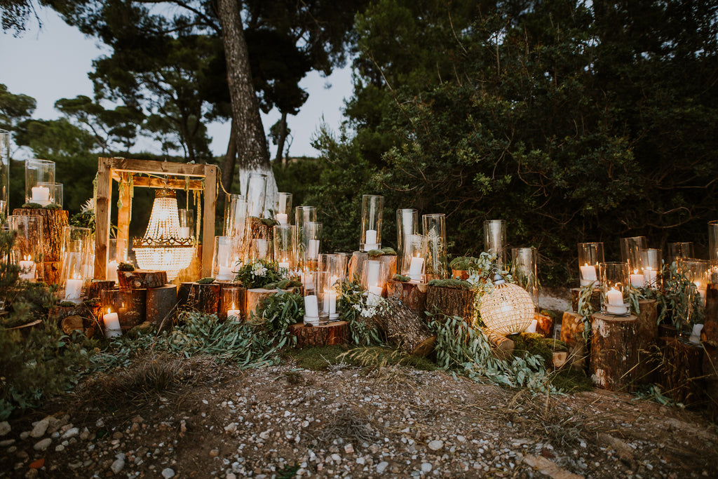 Celine & Jad - Luxury Bespoke Destination Wedding in Spetses Island, Greece | Romantic Candlelight | Tallulah Ketubahs