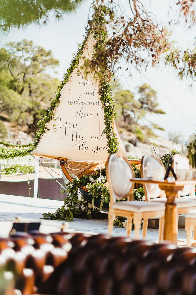 Celine & Jad - Luxury Bespoke Destination Wedding in Spetses Island, Greece | Hand Calligraphy | Tallulah Ketubahs