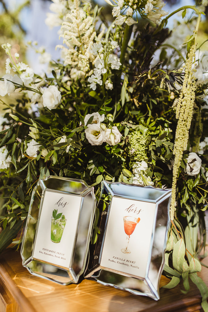 Celine & Jad - Luxury Bespoke Destination Wedding in Spetses Island, Greece | Signature Drinks, Custom Artwork and Calligraphy | Tallulah Ketubahs