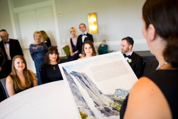 Ellen & Adam - Wedding at the Ritz Carlton, Half Moon Bay | Signing the Ketubah | Tallulah Ketubahs