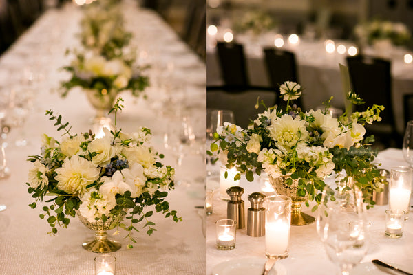 Ellen & Adam - Wedding at the Ritz Carlton, Half Moon Bay | Floral Tablescape | Tallulah Ketubahs
