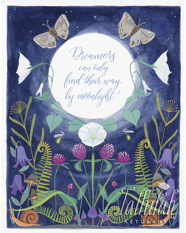 Dreamers in the Moonlight Print | Tallulah Ketubahs