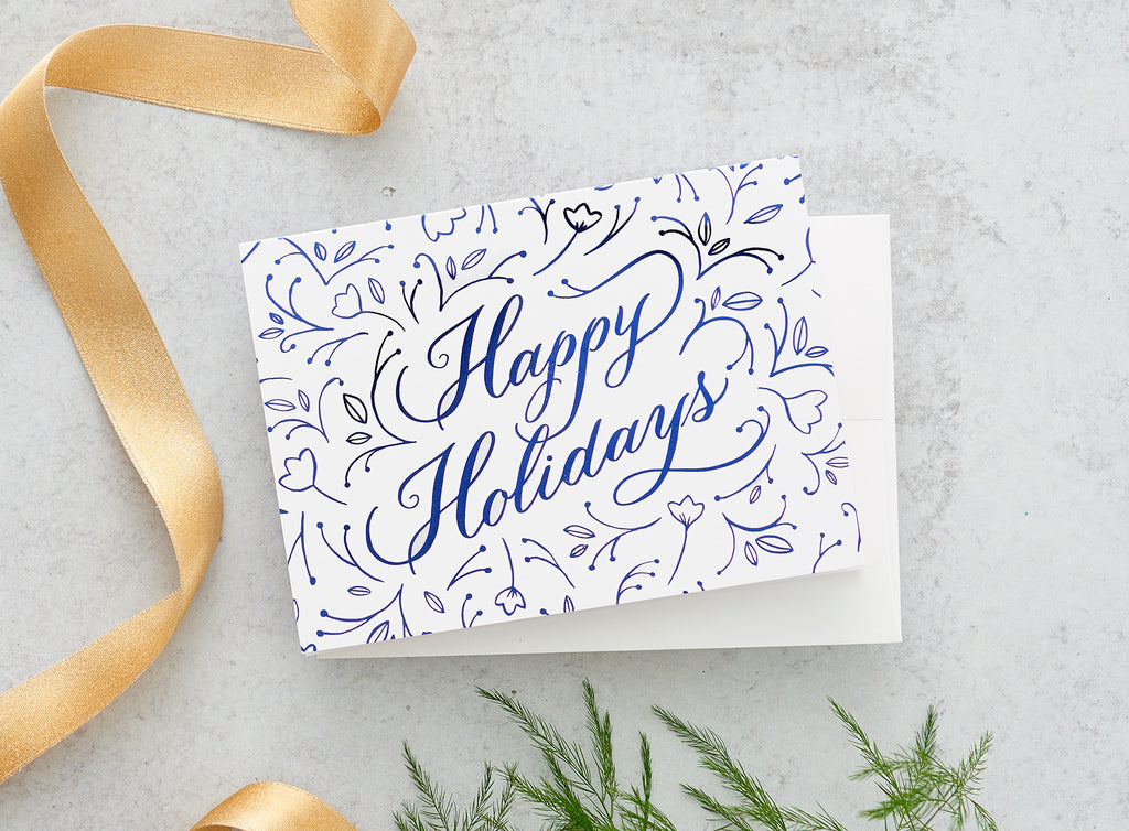Happy Holidays Foil Greeting Cards