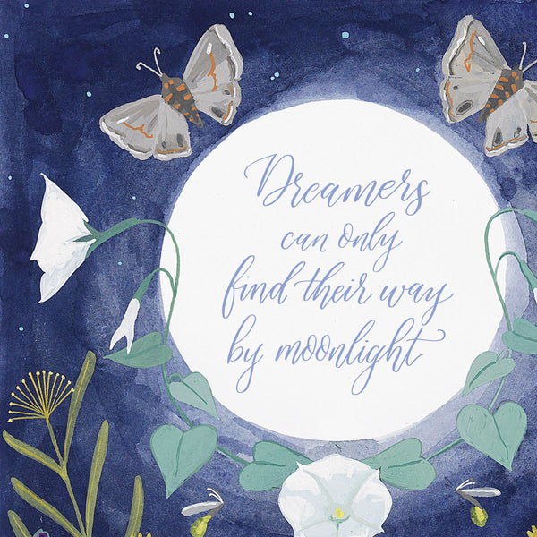 Dreamers in the Moonlight Print | Detail Shot | Tallulah Ketubahs