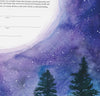 Tall Trees in the Moonlight Ketubah | Detail Shot | Tallulah Ketubahs