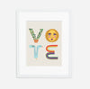 VOTE Typographic Print - Fundraiser