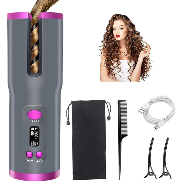 Automatic Rotating Hair Curler - Wireless Hair Crimper Styling Tools