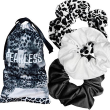 "Load image into Gallery viewer, Affirmation Scrunchies - ""FEARLESS"""