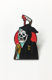 "L&O x Gus Jaimes ""Captain Death"" Lapel Pin"