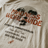 """Madness Worldwide"" Pocket Tee (Ivory)"