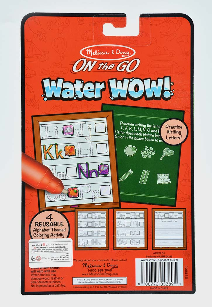 MELISSA & DOUG WATER WOW ALPHABET WATER REVEAL PAD