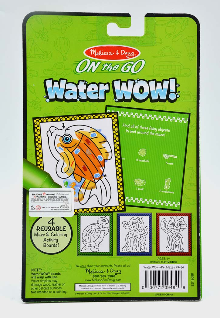 MELISSA & DOUG WATER WOW PET MAZES WATER REVEAL PAD