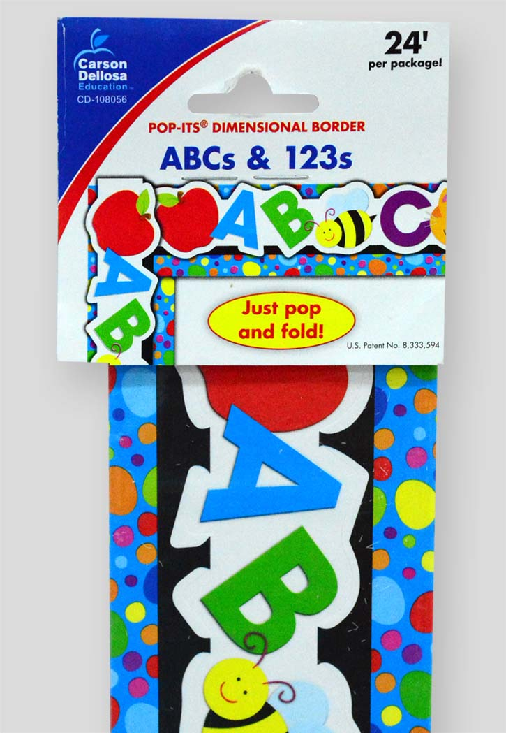 ABCs and 123s Pop-Its Dimensional Borders