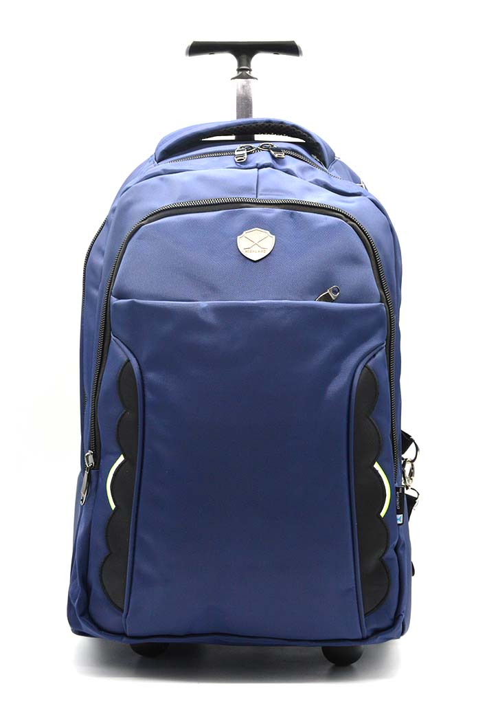 HIGHLAND BACKPACK W/TROLLEY NAVY BLUE 20