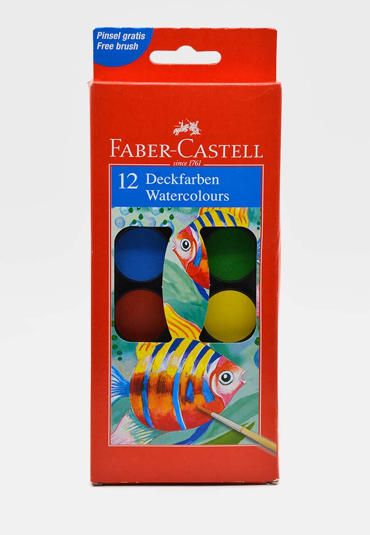 Faber Castell - Water Colors Set 30MM Set 12PCS With Brush