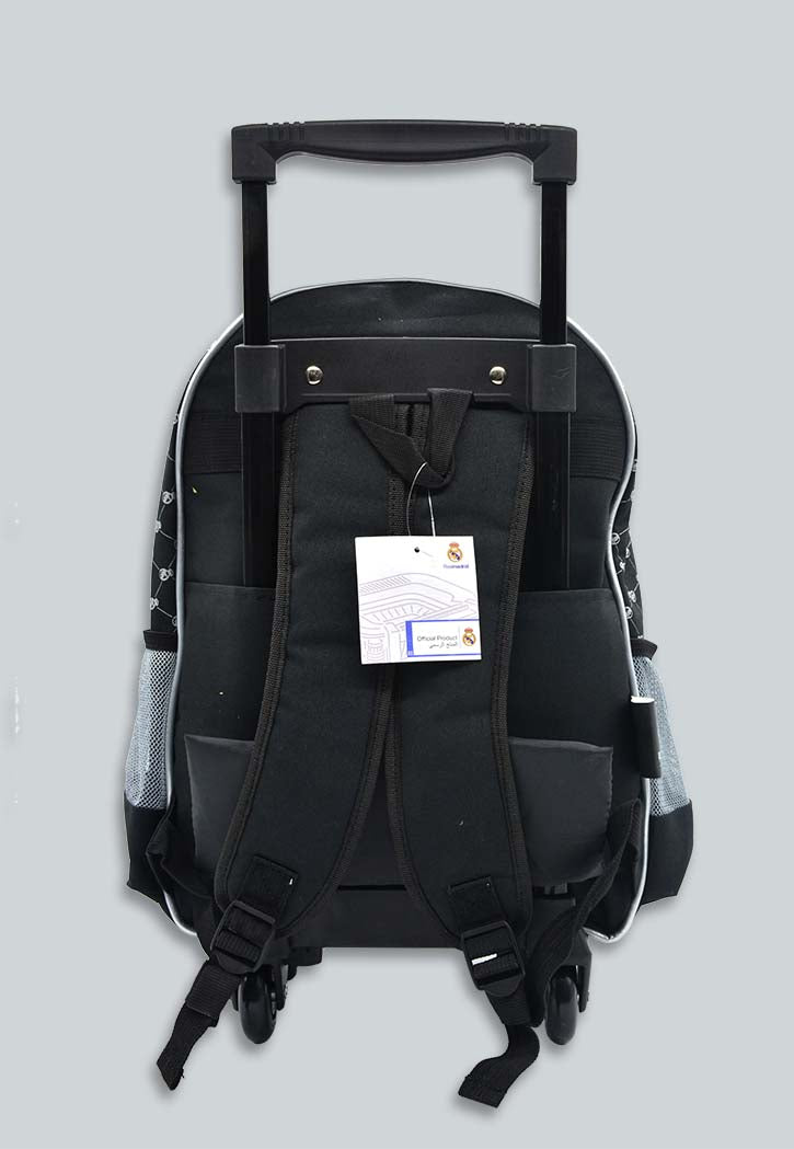 REAL MADRID 16\ HARD MOLDED JUNIOR TROLLEY BACKPACK W/2COMPT. & 2SIDE POCKETS S-7897 RMC""