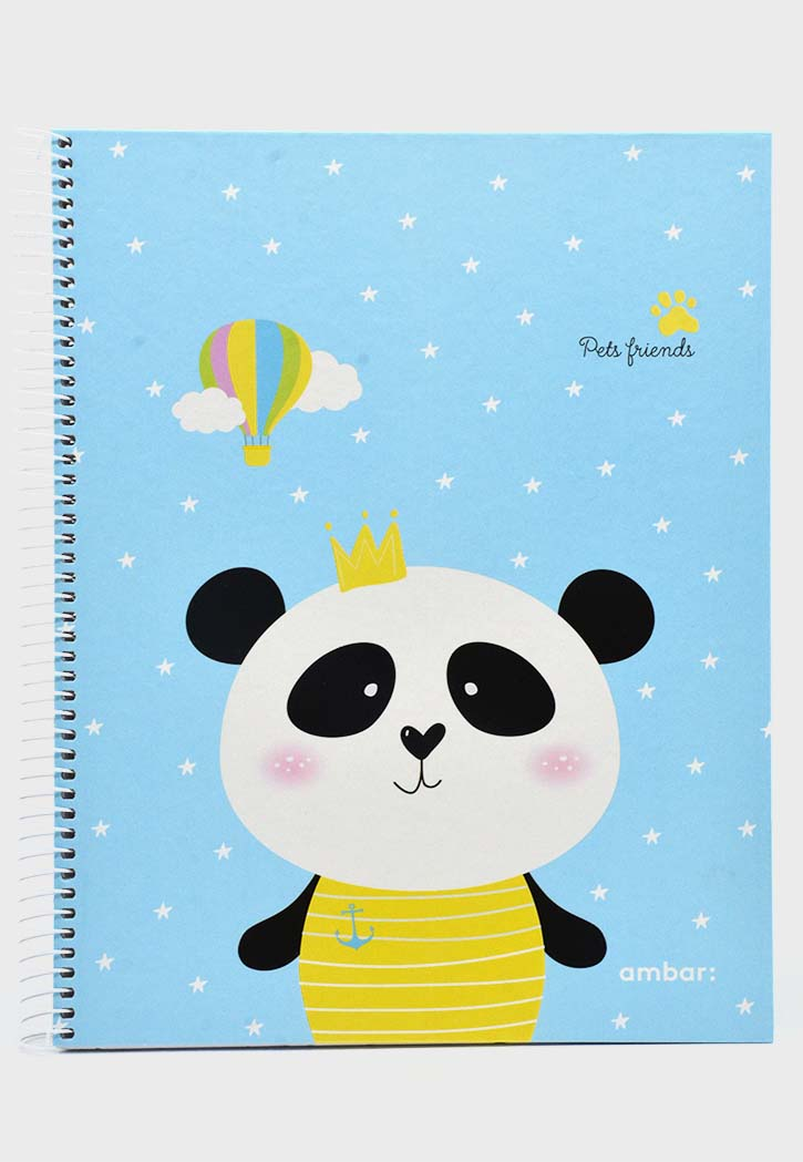 Ambar Pets Freinds - Spiral Hard Cover Square Notebook A5