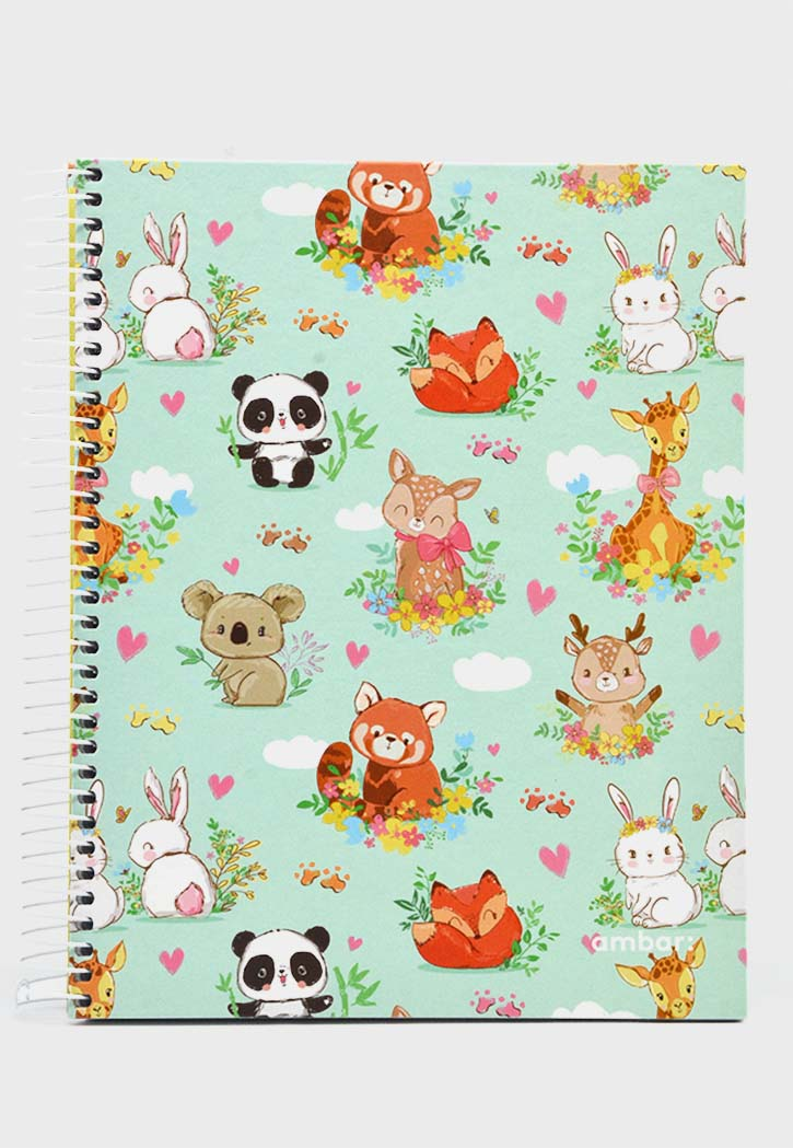 Ambar Woodland - Spiral Hard Cover 1Line Notebook A5