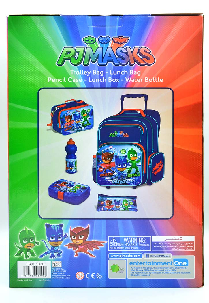 Pj Masks - School Bag 5-Piece Combo Set