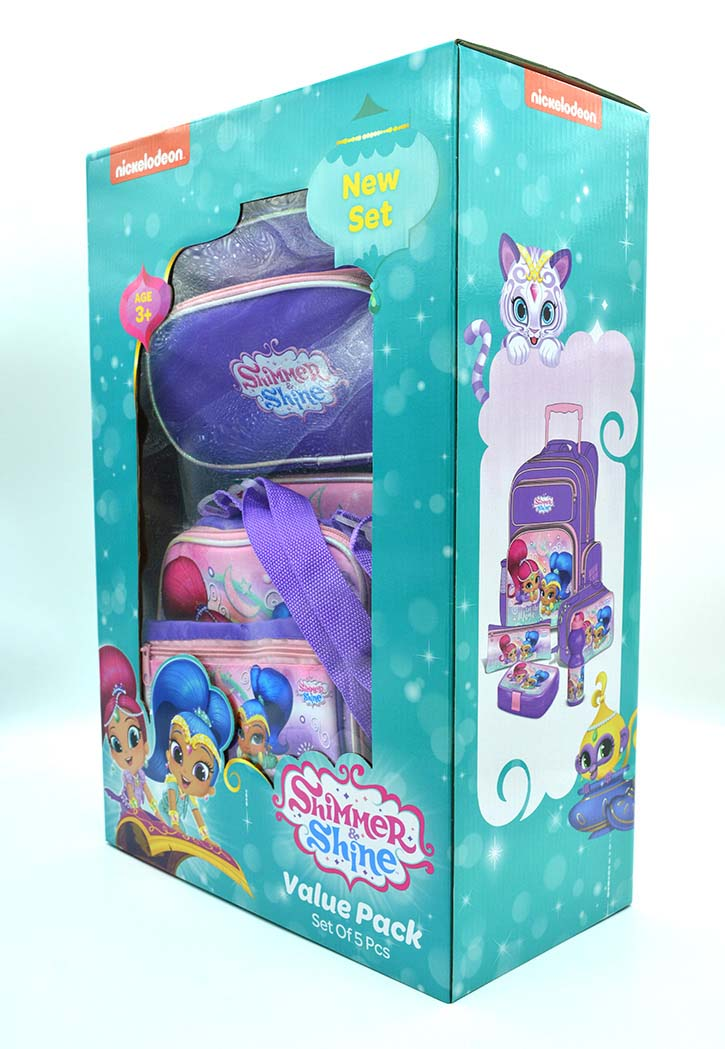 Shimmer & Shine - School Bag 5-Piece Combo Set