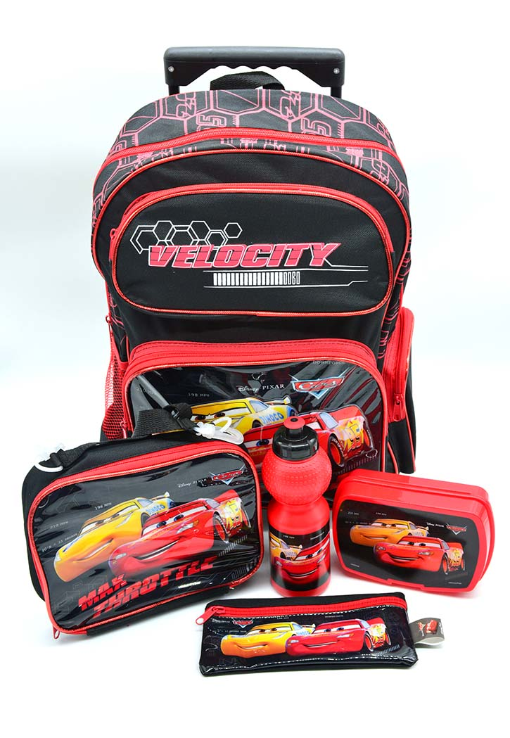 Disney Cars - School Bag 5-Piece Combo Set